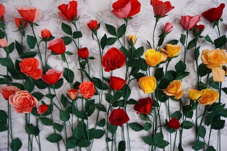 Beautiful Paper Flowers Ideas For Kidz