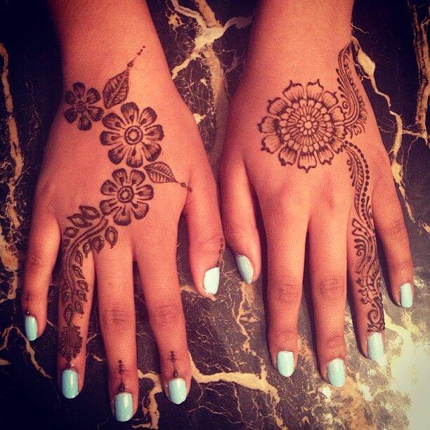 simple and elegant mehndi art