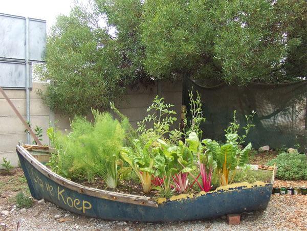 Garden in a Pallet Boat