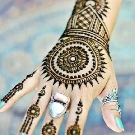 Easy Back hand Mehendi Designs