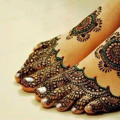 10 Latest Foot Mehandi Designs Never Seen Before 2018 on Sensod