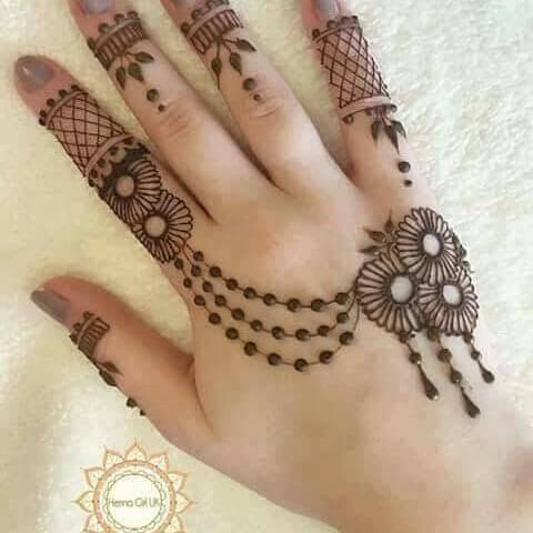 Backhand Really Simple and loveable Mehndi designs