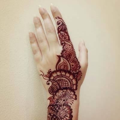 Easy and simple back hand henna mehndi design tutorial for Beginners