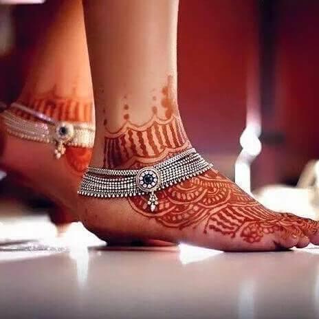mehndi designs for feet arabic