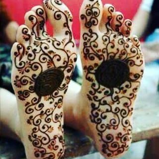 Foot bottom Heena design in 2018