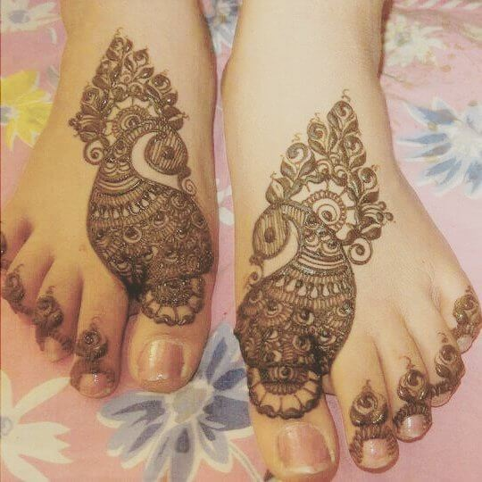 Easy Arabic Mehendi For Feet