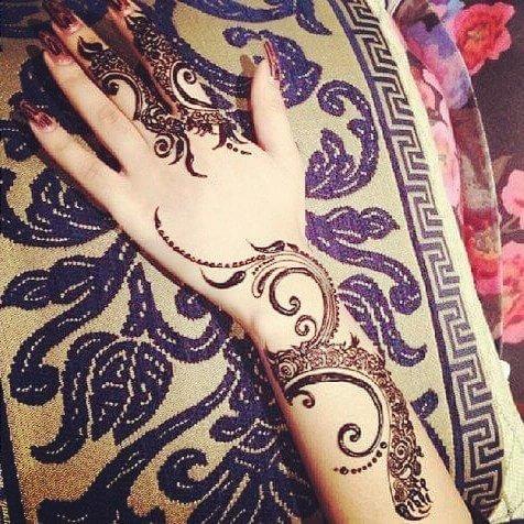 20 Stylish Full Back Hand Mehndi Designs for Ladies