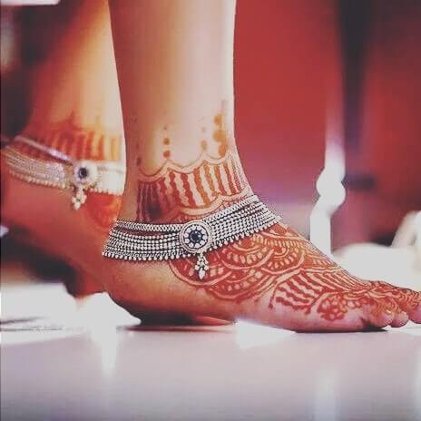 bridal foot henna designs simple