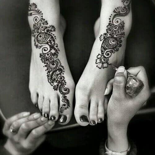 Easy Arabic Mehendi For Feet and hand on sensod