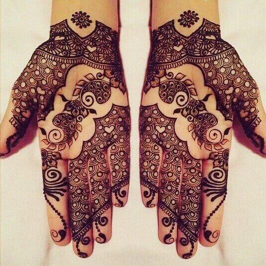 simple mehndi design for both hands