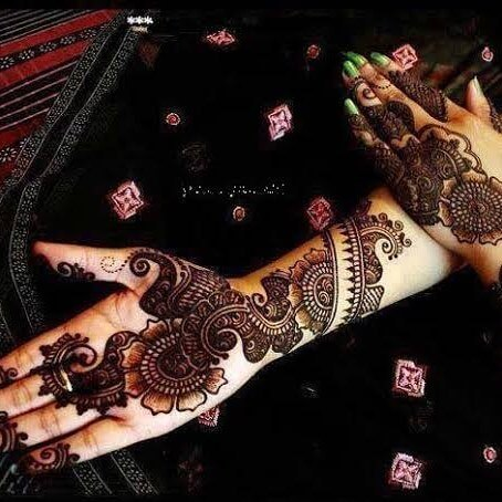simple mehndi design for full hand and Arm