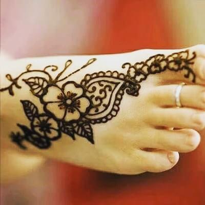 foot henna designs simple