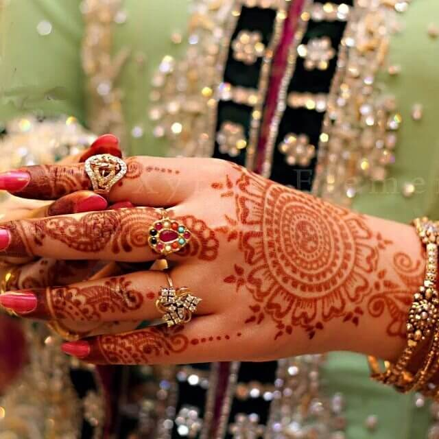 Dark Color Design Back hand Mehndi Designs