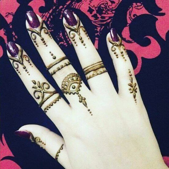 Easy and Simple Finger Mehndi Designs - Henna Finger Ideas