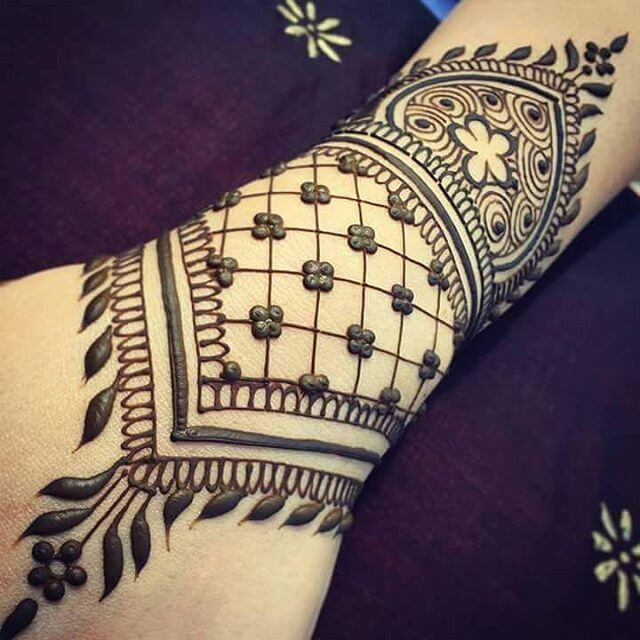 simple arm mehandi