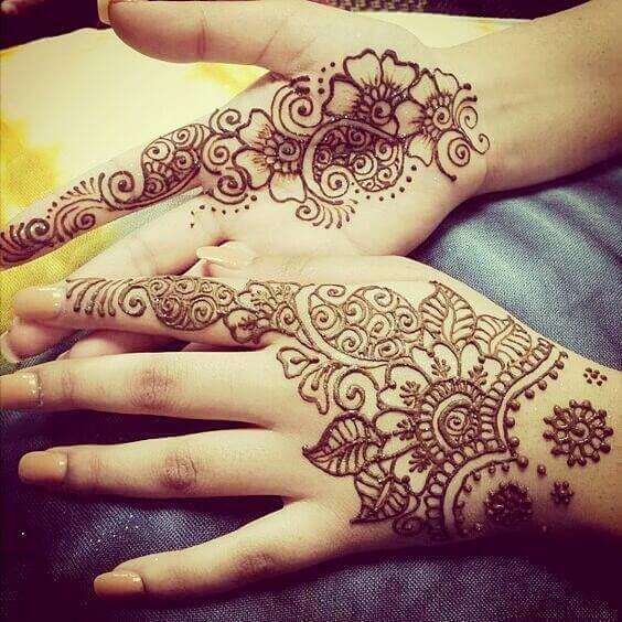 bridal both hands henna designs