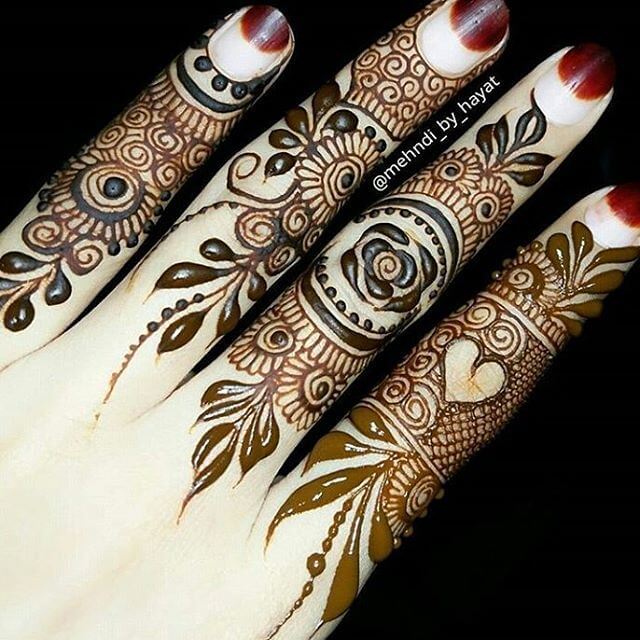 mehandi designs on fingers