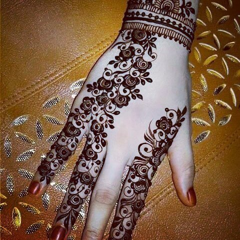 Bridal Henna Designs for left and right hand