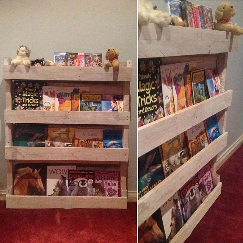 9 Creative Wood Pallet Bookshelf Plans On Sensod