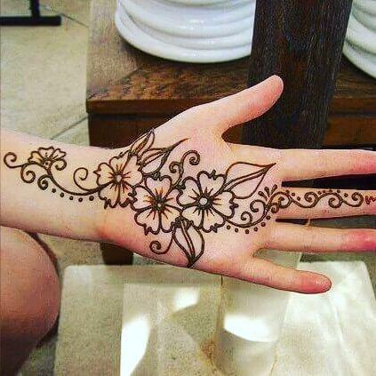 mehandi designs for brides 2018