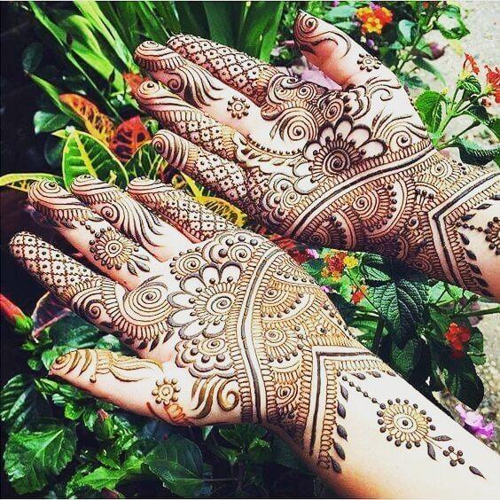 mehndi both hands design sensod