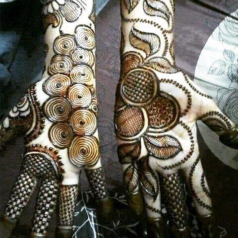 heavy both front hands mehndi design 2018