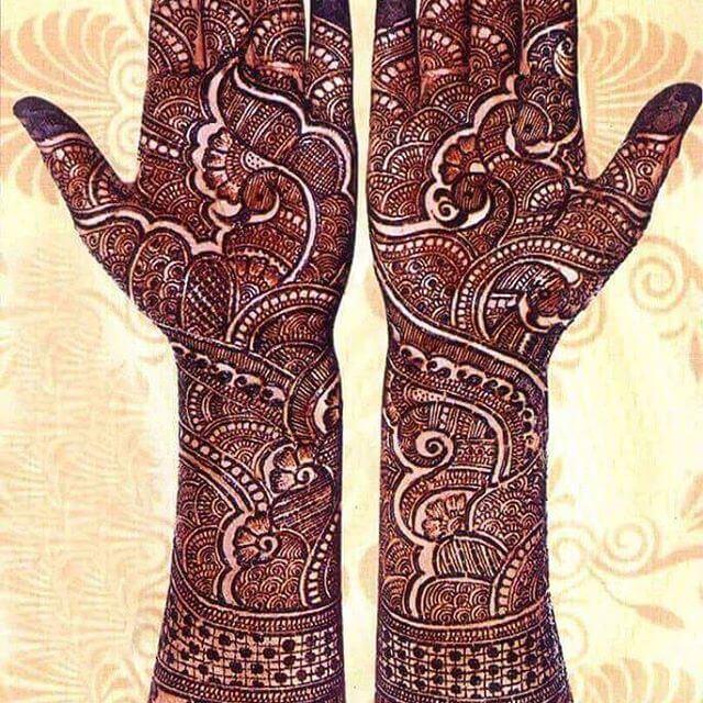 detailed henna art