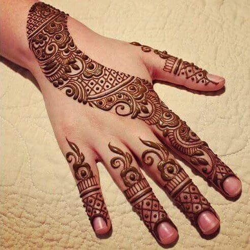 Simple Mehandi Designs For Full Hands Sensod