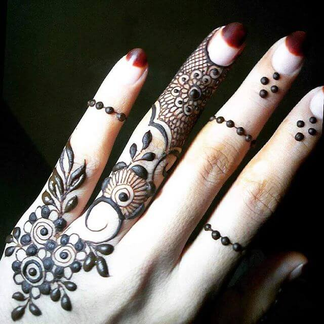 Finger mehandi designs for beginners