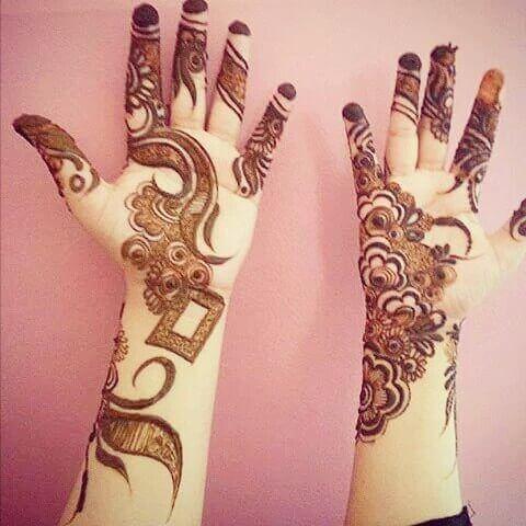 simple both hands mehndi designs
