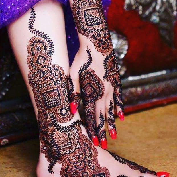 leg mehndi designs easy only