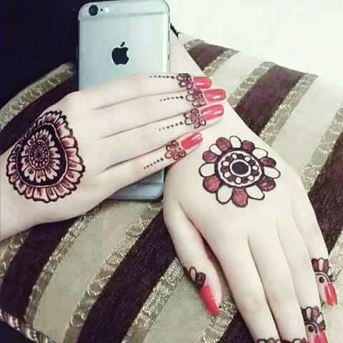 simple mehndi design for both hands in 2018
