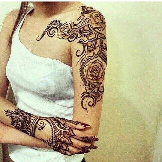 detailed mehandi designs for bridal