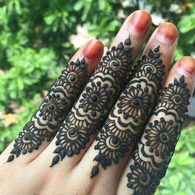 fingers mehandi design