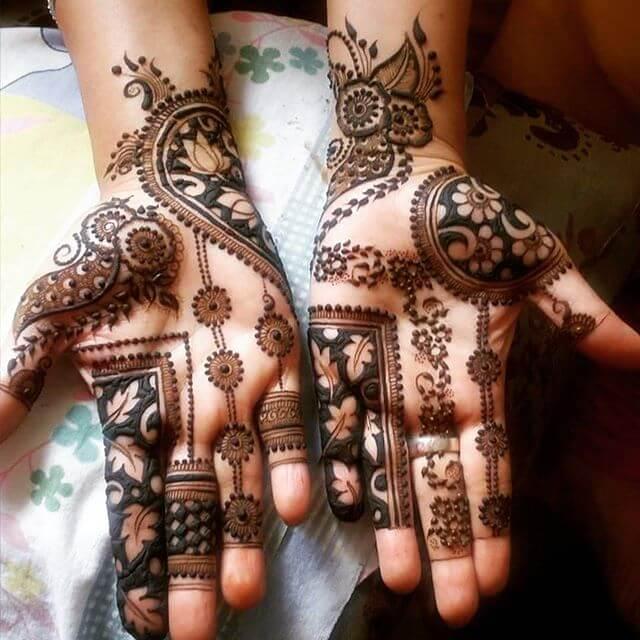 pakistani both hands bridal henna designs