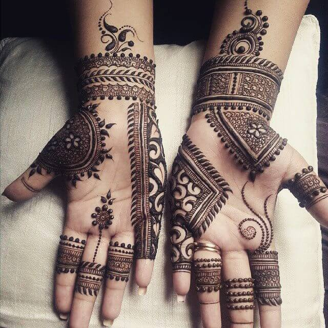 Easy Mehndi Designs For Front Hands For Kids