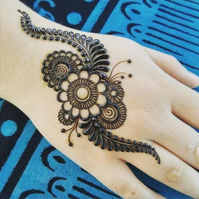 Kids Mehndi Design on Back Hand