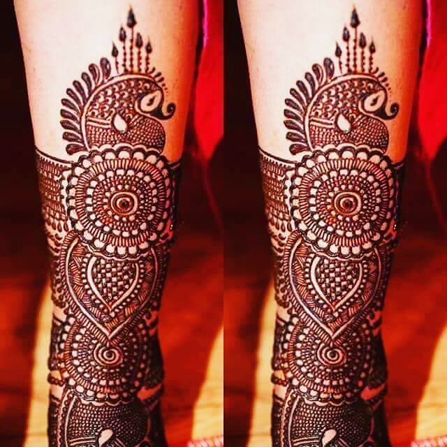 full arms mehandi design
