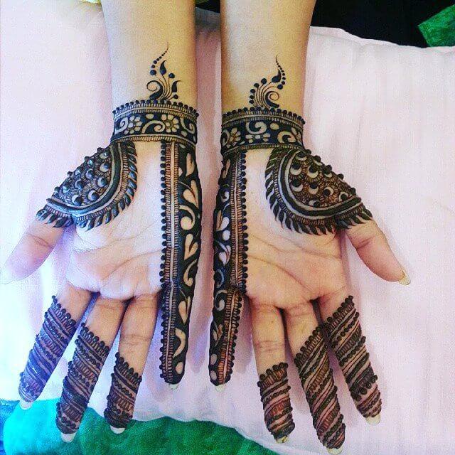 front hand mehndi design for kids