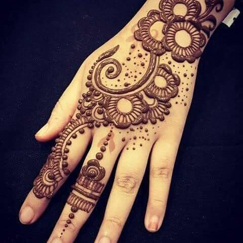 Simple Mehndi Designs for Kids Back Hand