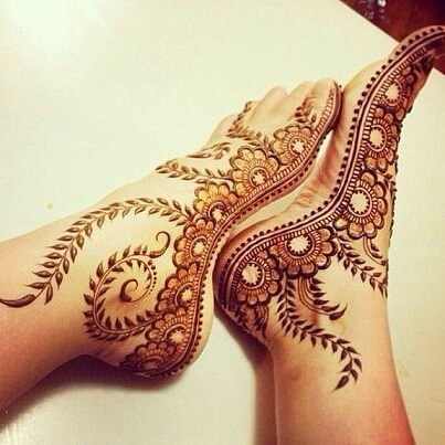 mehndi designs for foot and legs simple & quick for kids