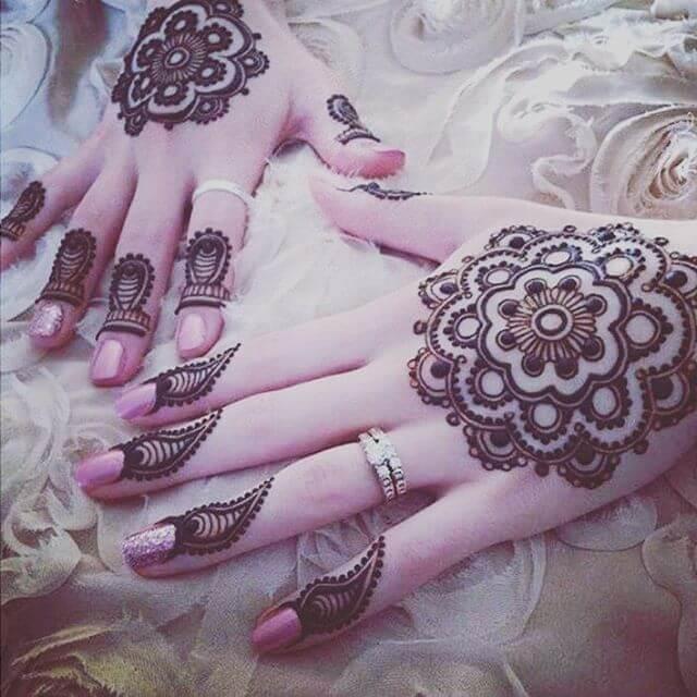 Backhand new mehndi designs on sensod