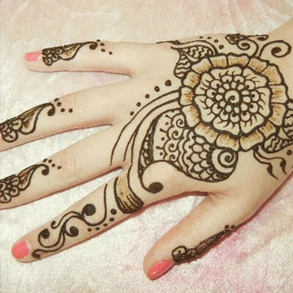 Stunning and beautiful mehndi design for backhand for kids