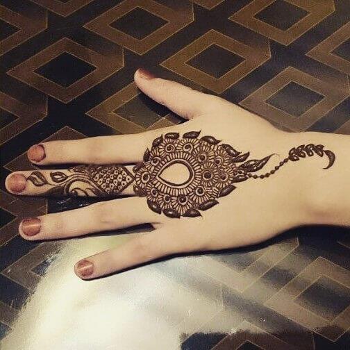 Back Hand Henna Designs For Kids