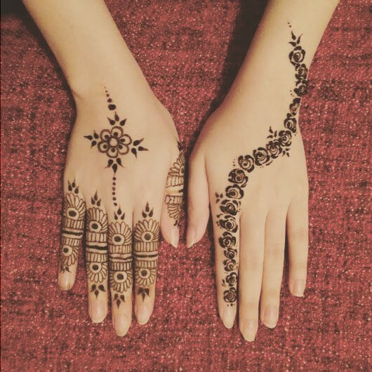 Backhand new and Simple mehndi designs