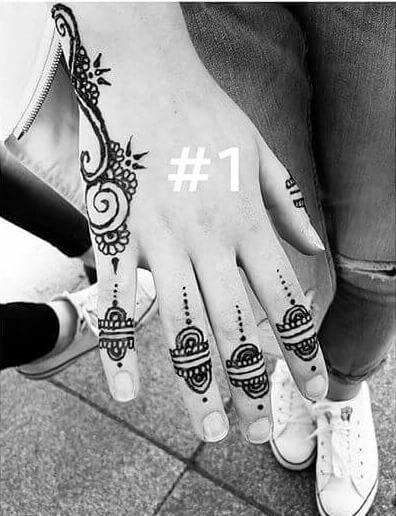 mehndi on your fingers