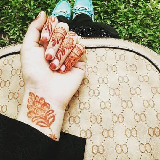 Cute Front hand Mehndi Designs for Kids