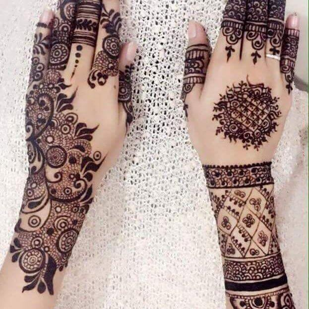 Backhand new and heavy mehndi designs