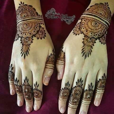 Backhand new and mehndi designs on Eid