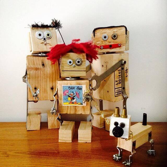 three Pallet robots for decoration